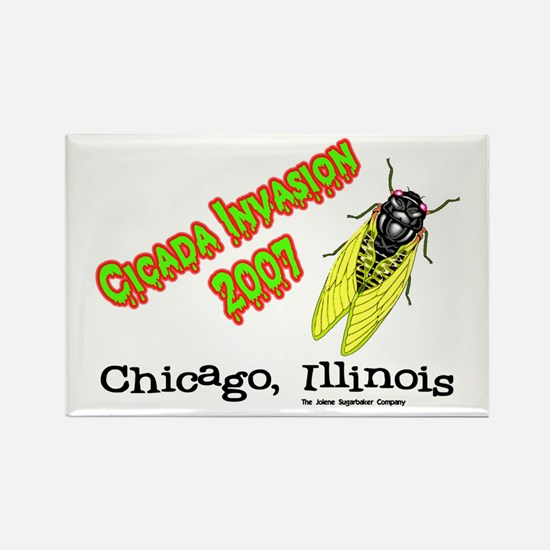 Chicago Cicada 2007 Rectangle Magnet