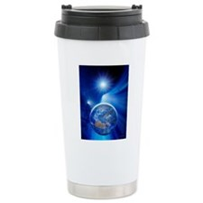 Earth in a comet's tail Travel Mug