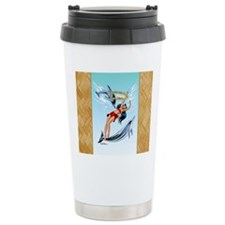 Swimming With Dolphins Travel Coffee Mug