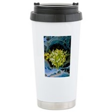 False-colour SEM of mac Travel Mug