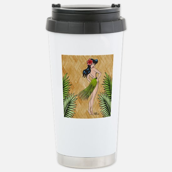 Island girl in a grass  Stainless Steel Travel Mug