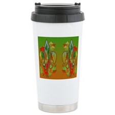 Autumn Fall Fleur de li Travel Mug