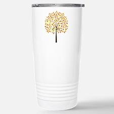 Gold Ribbon Tree Travel Mug