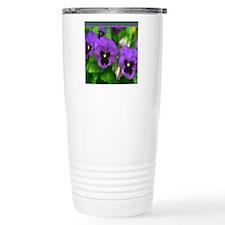 Purple Pansy Faces Travel Mug