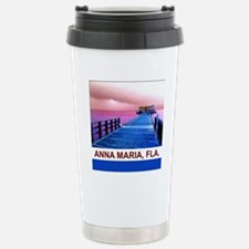 Pink and blue Rod & Ree Stainless Steel Travel Mug