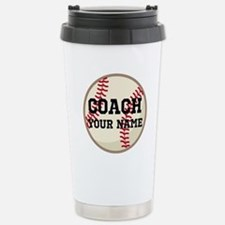 Personalized Baseball Coach Travel Mug