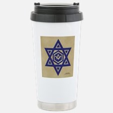 Masonic Star of David Stainless Steel Travel Mug
