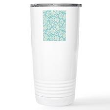 Turquoise and Cream Dam Travel Mug