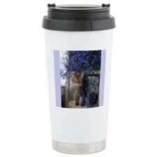 Flower Cat Travel Mug