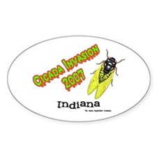 Indiana Cicada Oval Decal
