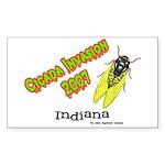 Indiana Cicada Rectangle Sticker