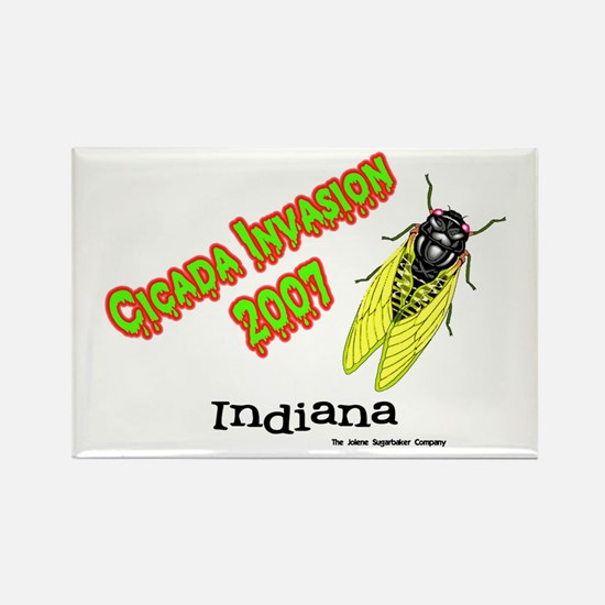 Indiana Cicada Rectangle Magnet
