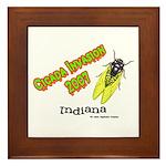 Indiana Cicada Framed Tile