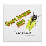 Indiana Cicada Tile Coaster