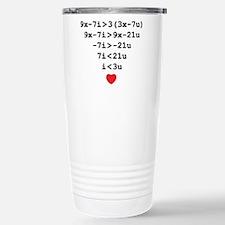 love u Stainless Steel Travel Mug