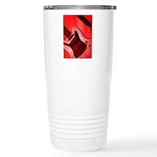 Bold Red Guitar Travel Mug
