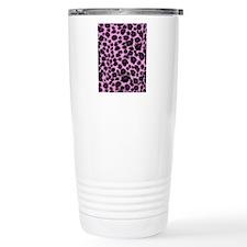 Purple Leopard Print Travel Coffee Mug