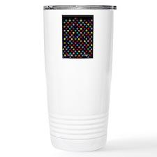 PawPrintRBblackFlipFlop Travel Mug