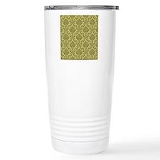 Damask Shower Curtain Travel Coffee Mug