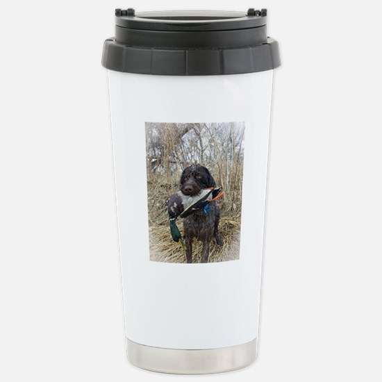 German wirehaired point Stainless Steel Travel Mug