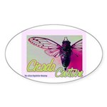 Cicada S Couture Oval Sticker