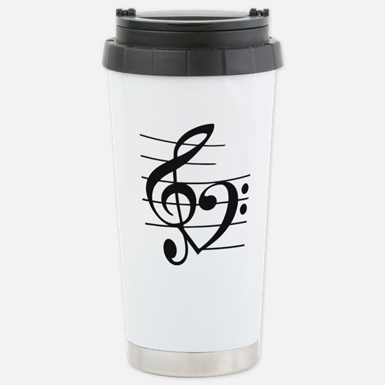 Music heart Stainless Steel Travel Mug