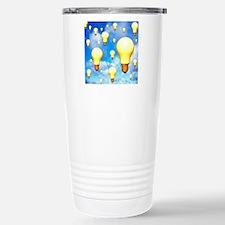 Light bulbs, artwork Travel Mug