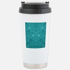 Leather Look Floral Tur Travel Mug