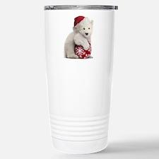Polar Bear Cub Christma Stainless Steel Travel Mug