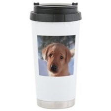 Yellow Lab puppy Travel Mug