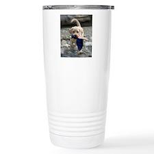 Yellow Lab puppy Travel Mug