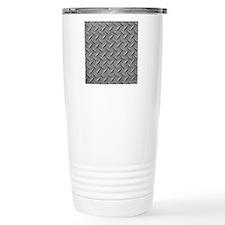 Diamond Plated Steel Travel Mug