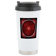 Red Triple Celtic Drago Travel Mug