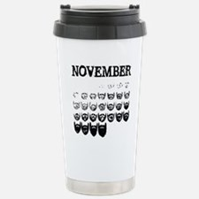 No shave november Travel Mug