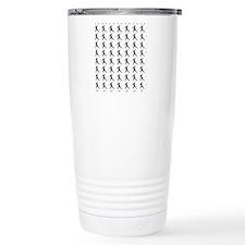 Javelin Throw Silhouett Travel Coffee Mug
