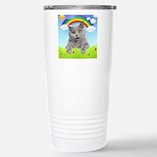 Rainbow Kitty Stainless Steel Travel Mug