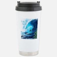 Live To Surf Stainless Steel Travel Mug