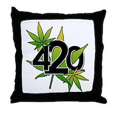 420-3leaf Throw Pillow