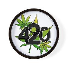 420-3leaf Wall Clock