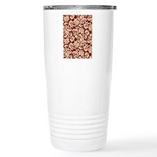 Cream and Scarlet Red D Travel Mug