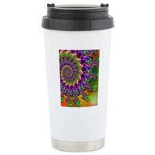Green and Purple Bokeh  Travel Mug