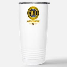 Wisconsin Stainless Steel Travel Mug