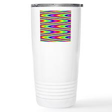 Psychedelic Rainbow Zig Travel Mug