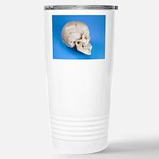 Human skull Travel Mug