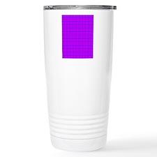 Purple and Pink Checker Thermos Mug