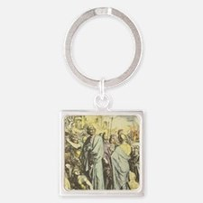 Division of Kingdom between Rehobo Square Keychain