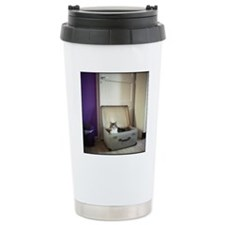 Cat in a suitcase Travel Mug