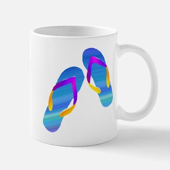 Blue and Purple Watercolor Flip Flops Mugs