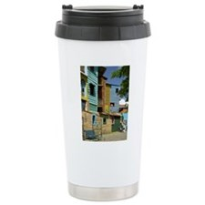 Buildings in La Boca, B Travel Mug