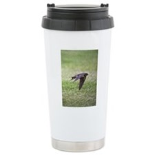 Swallow flying low over Travel Coffee Mug
